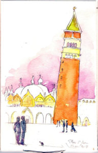 aquarelle-place-saint-marc-illustration