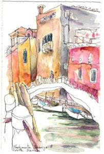 carnet de voyage aquarelle-venise-fondameta-della-fornaca-pineau