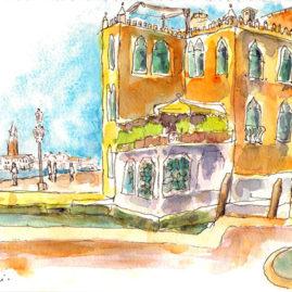 carnet de voyage aquarelle-venise-quai-guardini