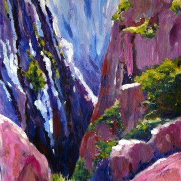 Gorges du Cians Mercantour Peinture acrylique