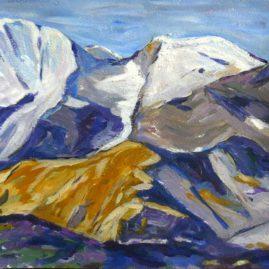 Peinture massif du Mercantour