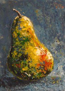 peinture acrylique poire
