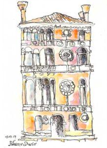 palazzo dario venise encre de chine et encres de couleur