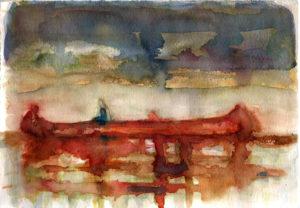 "Interprétation d'un tableau de Peter Doig ""Red Canoe"""