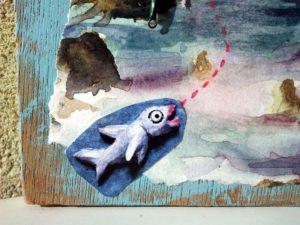 """""""Marseille dans les bleus"""" détail poisson"""