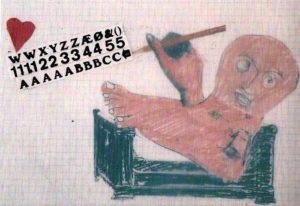 Jean-Christophe Averti collage pour la pièce le désir attrapé par la queue