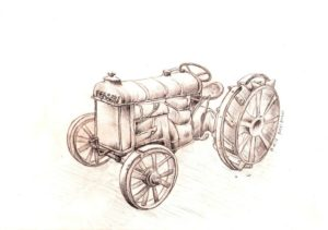 dessin-tracteur-crayon-gris