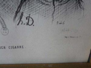 signature gravure H.D DAUMIER
