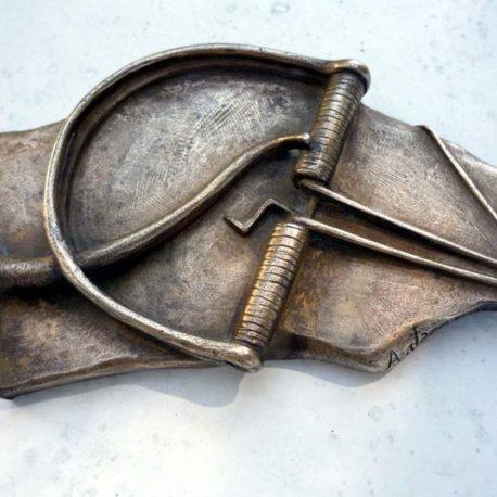 Bronze ancien Jacopin pièege à rat