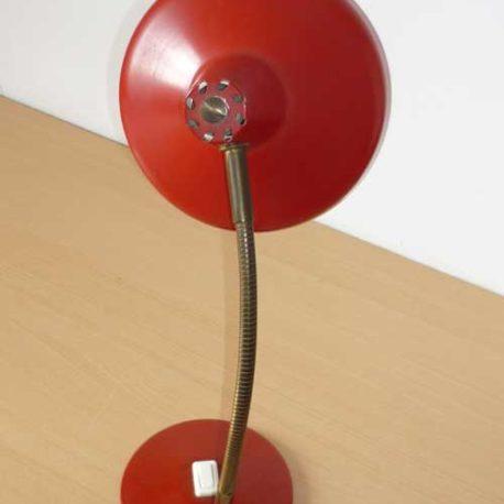 lampe rouge années 50 vue de dos