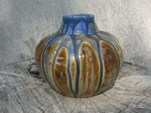 Vase en grès flammé Méténier vu de face